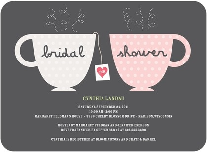 006 tea cup bridal shower invite