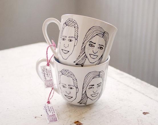020 custome couple teacups
