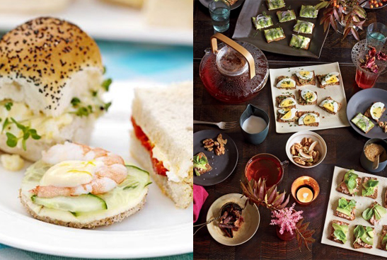 traditional and modern tea sandwiches