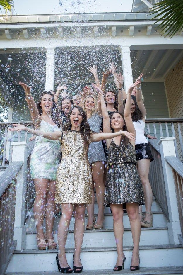 A Glitter Bachelorette Party in South Carolina | Ultimate Bridesmaid | Paige Winn Photography