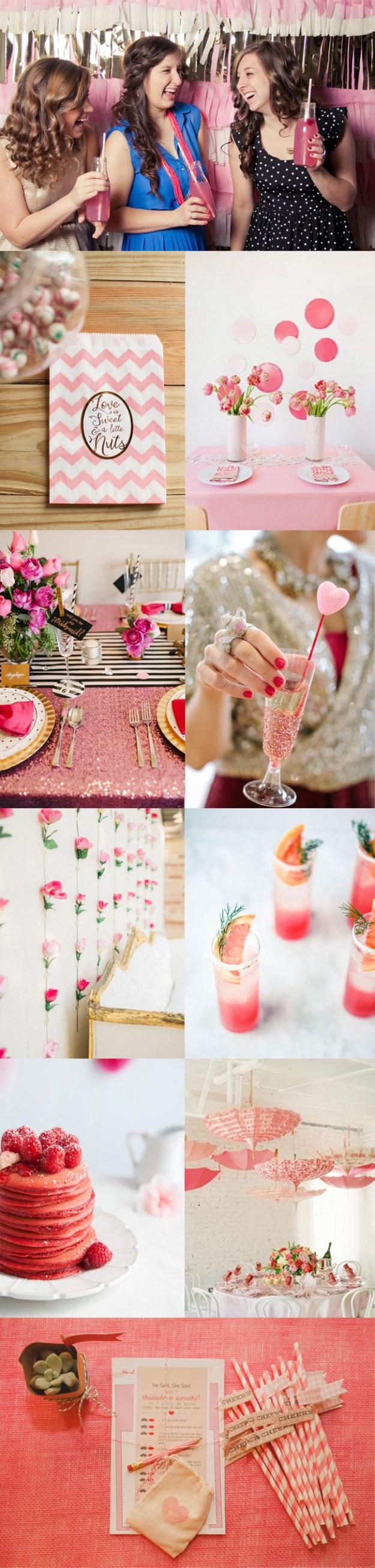 Pink bridal shower inspiration board