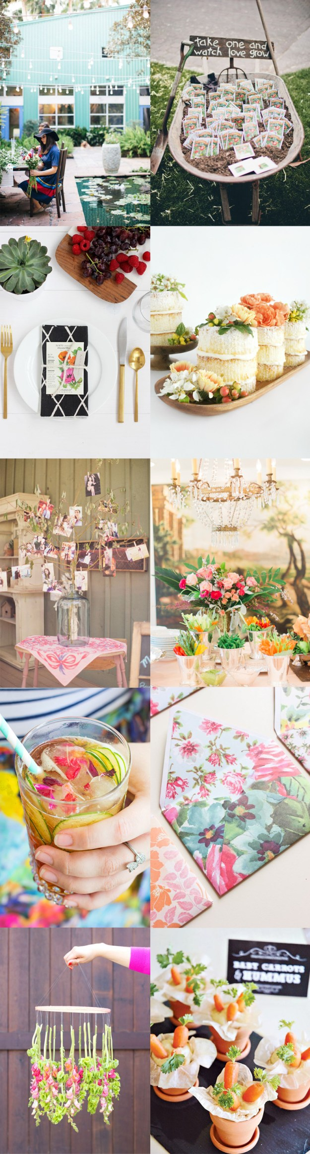 A Garden Party Bridal Shower Inspiration Board