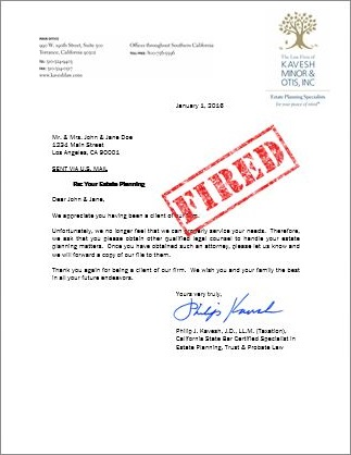 Client Termination Letter Template - Ultimate Estate Planner