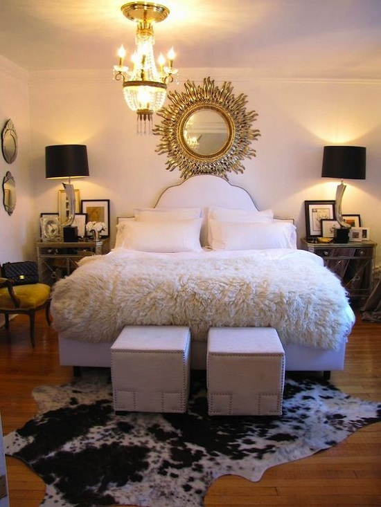 Kuhfell Teppich Beige 35 Gorgeous Bedroom Designs With Gold Accents
