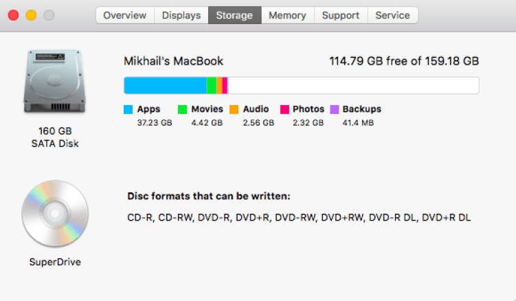 Speed up your mac - disk space