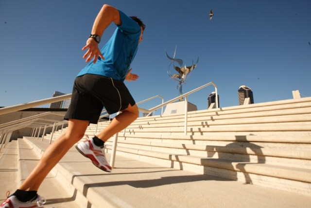 Running stairs can be a great way to replace hills