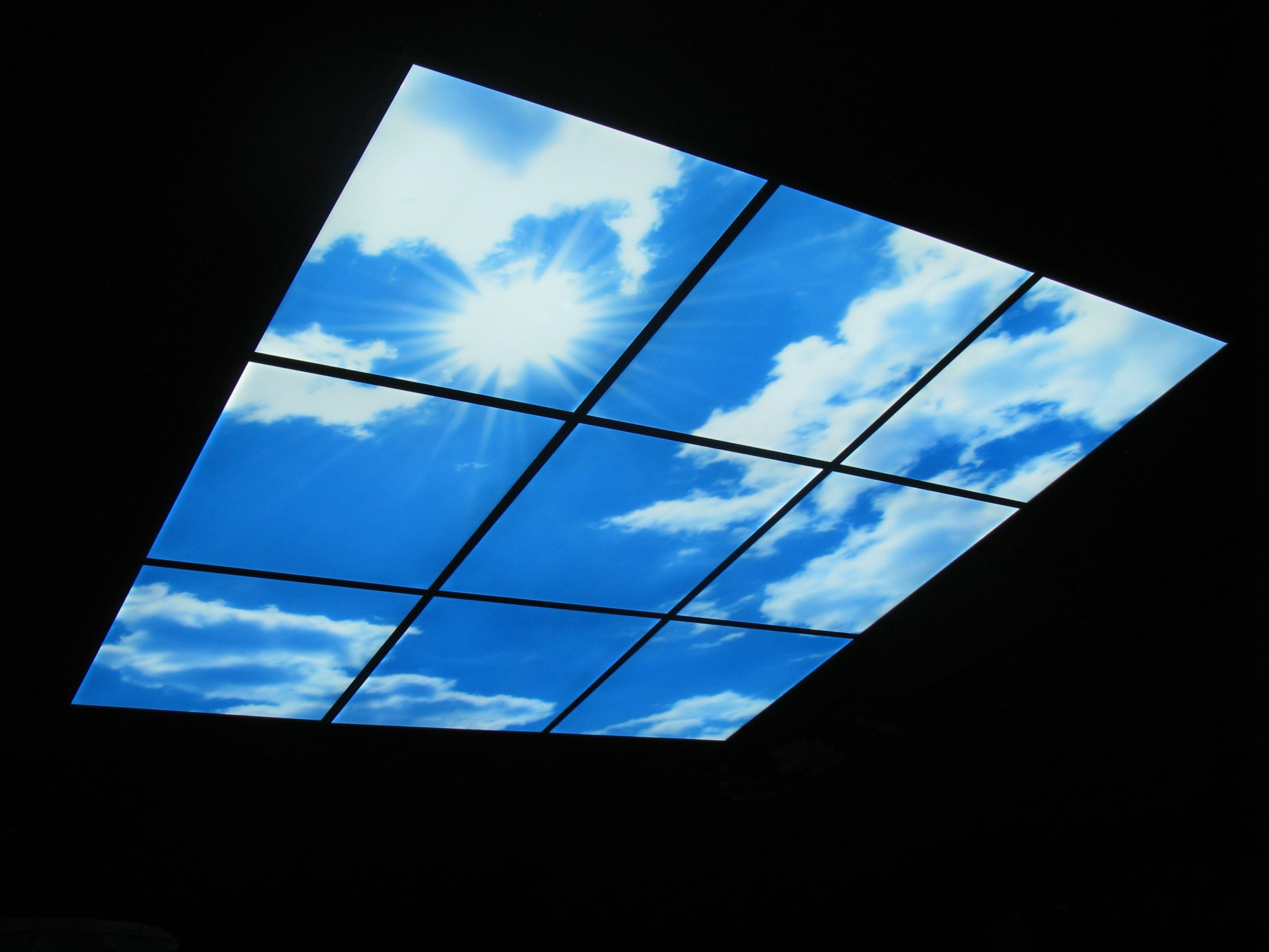 Lcd Light Panels 595x595 Led Sky Panel Ceiling Architectural Lighting