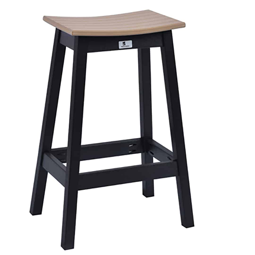 Saddle Bar Stools Berlin Gardens Outdoor Saddle Bar Stool - Ultra Modern
