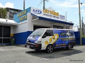 Ultra Tint Window Tinting Gold Coast Workshop Van
