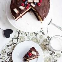 Ciasto Bounty - ciasto czekoladowe z masą kokosową i polewą czekoladową