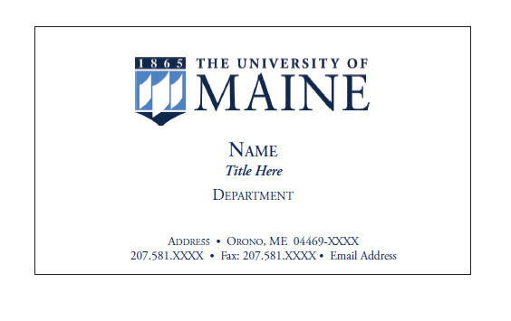 UMaine Business Cards - Printing and Mailing Services - University