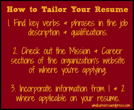 How to Tailor Your Resume \u2013 Peer Into Your Career