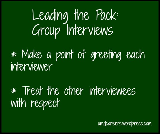 Leading the Pack Group Interviewing \u2013 Peer Into Your Career