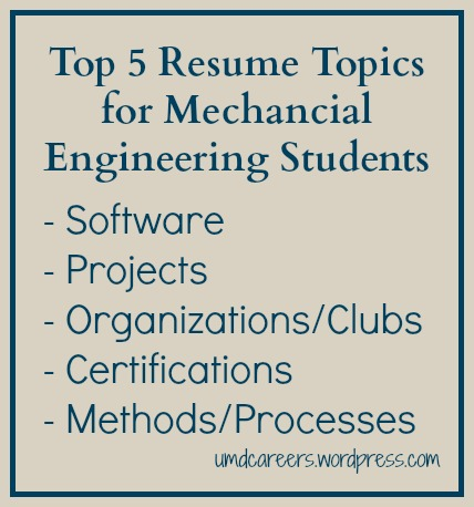 Top 5 Resume Topics for Mechanical Engineering Students \u2013 Peer Into