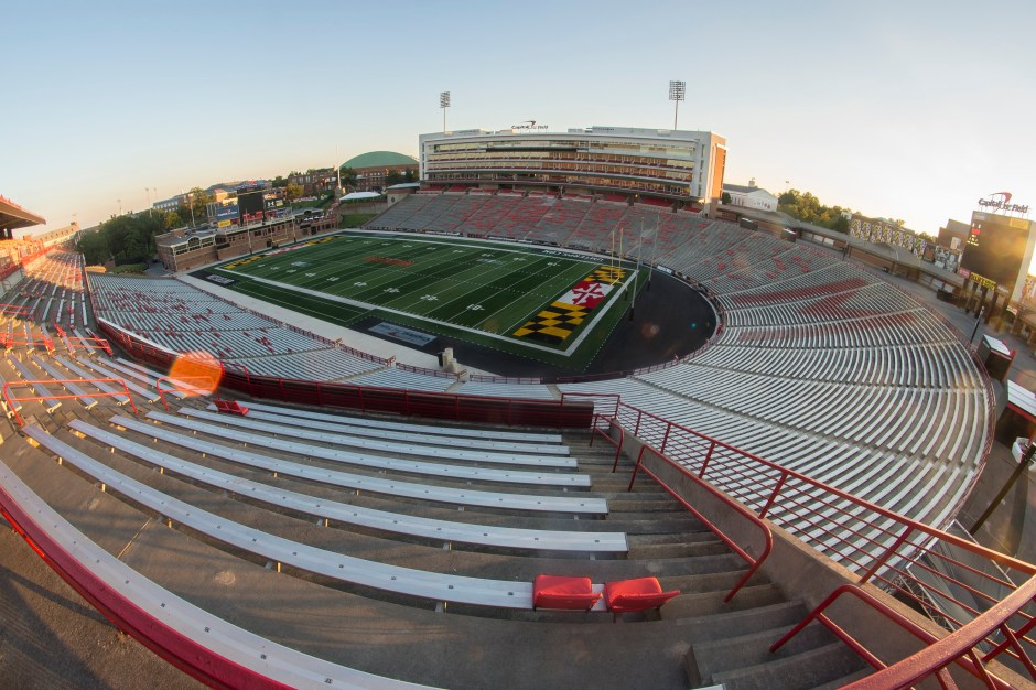 Alcohol at future games and events would be sold at concession stands, seen on the right, next to Byrd Stadium, if plans debated by Student Affairs are pursued. Josh Loock/The Diamondback