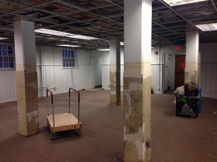 The basement of Worcester Hall undergoes renovations this semester and during winter break. Residential Facilities plans to open the basement for the spring 2015 semester as a lounge space for students.