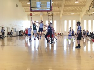 Players go up for a rebound during NHBT's first all-star game. Jon Orbach/Mitzpeh