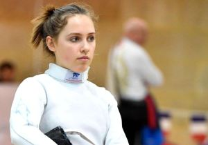 Vera Kanevski won the gold medal in the women's epee competition at the 2017 European Junior Championships. Augusto Bizzi/The Jerusalem Post.