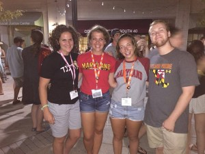 Maiya Chard-Yaron (left) and students (left to right) Hannah Litman, Sari Dorn and Eden Jakob attend the Hillel Institute in St. Louis in 2015. Photo courtesy of Maiya Chard-Yaron.