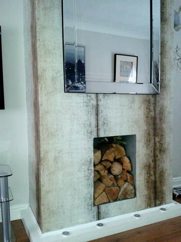 Home Decorating Ideas My Eclectic home decor - stone styled wallpaper