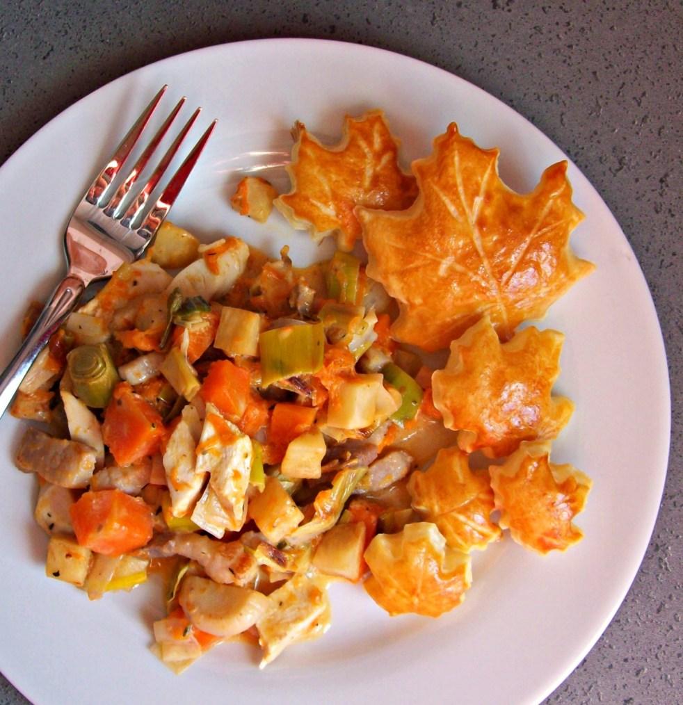 Légumes d'automne au poulet et à la crème