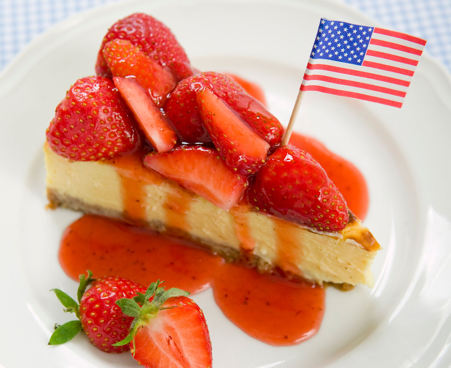 Cheesecake With Stawberries Un Americana In Cucina