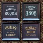 Carteles de madera de inspiración vintage