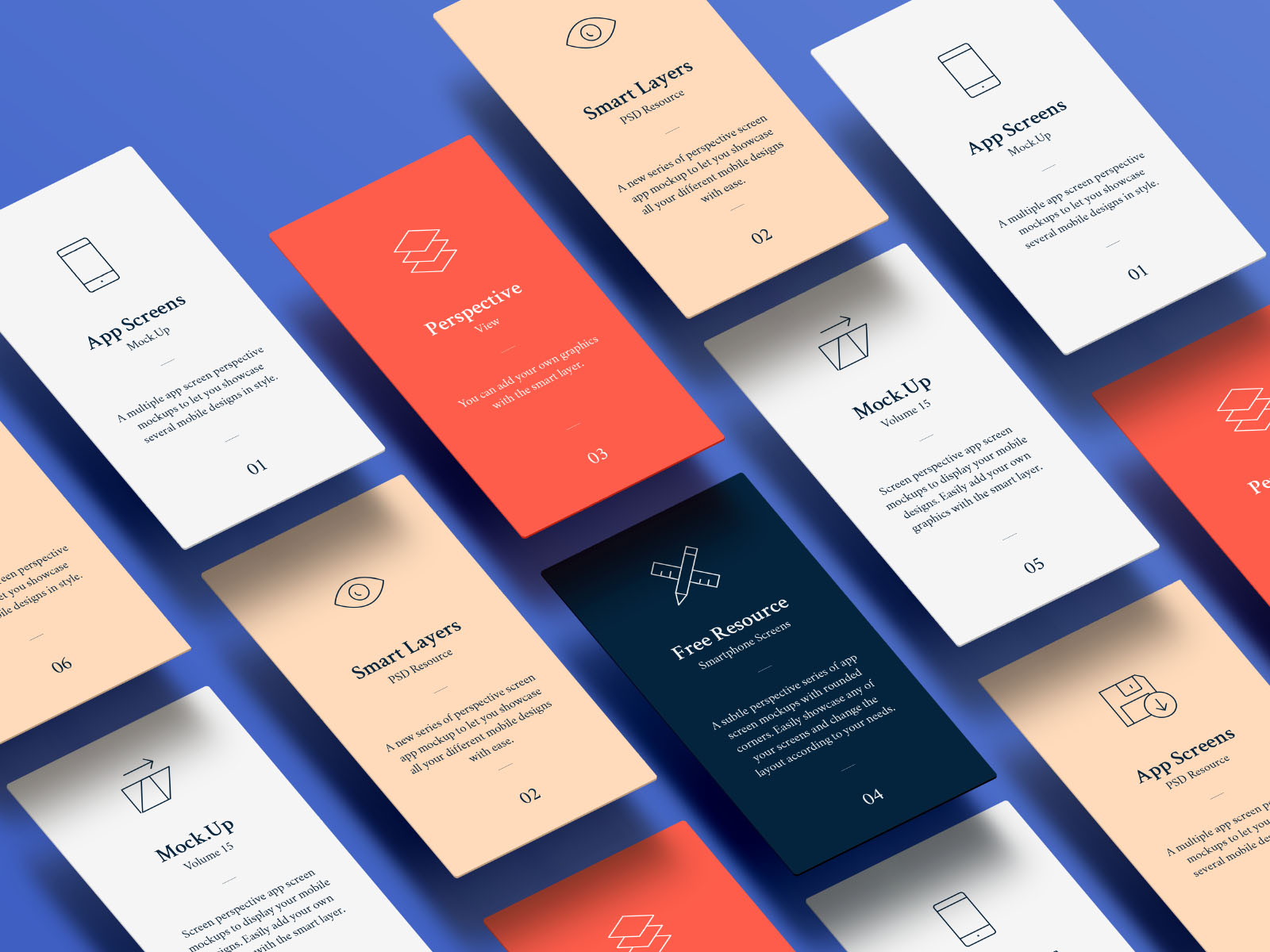 Iphone Wallpaper Psd Template Multi Screen Perspective Floating App Mockups Psd