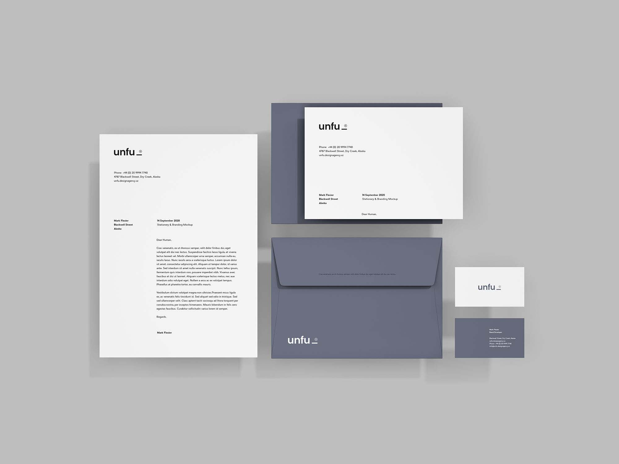 personal stationary design