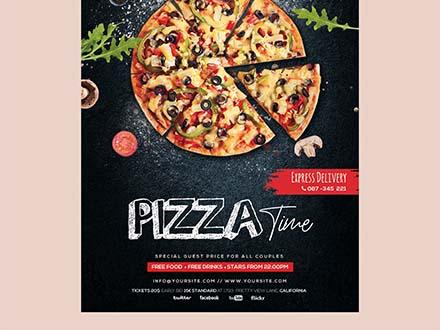 Free Pizza Restaurant Flyer Template (PSD)