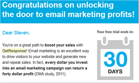 8 Ways to Convert Free Trial Users Into Customers Through Email - email marketing sample