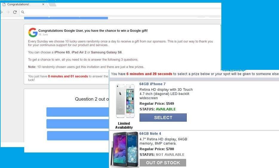 Remove \u201cYou have won (1) Google gift today\u201d scam pop-ups - Cyber