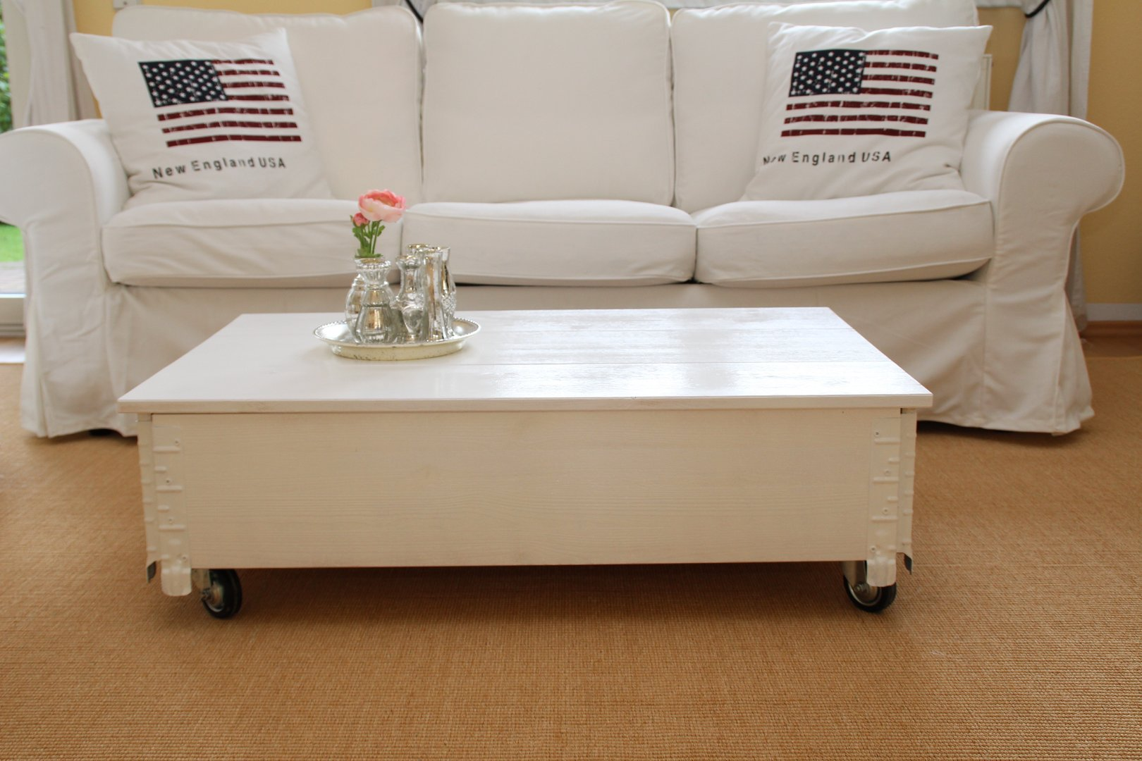 Couchtisch Montain Oak Details About Coffee Table Side Table White Solid Wood Shabby Chic Vintage Living Room Table