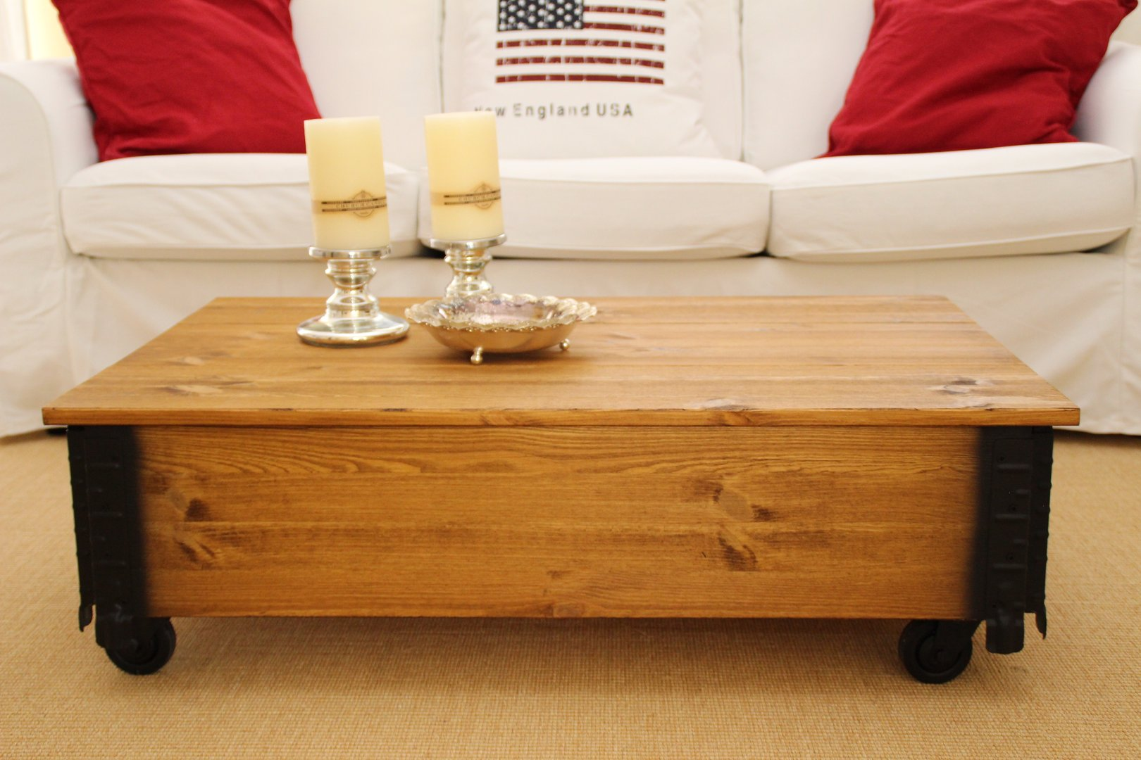 Couchtisch Montain Oak Details About Coffee Table Chest Living Room Sofa Solid Wood Vintage Shabby Loft Old H