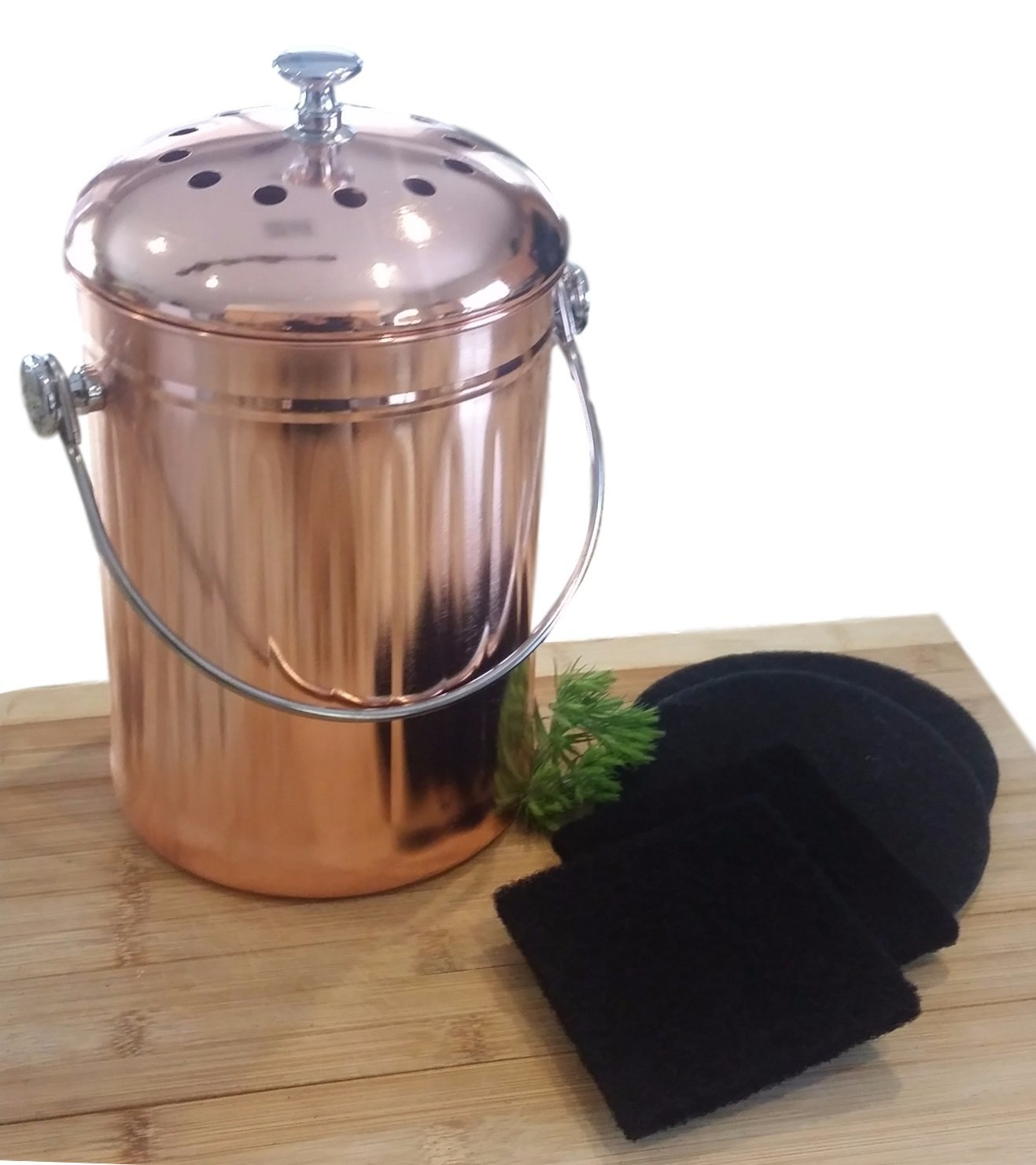 Rose Gold Trash Can New Rose Gold Compost Pail Free Shipping Uncle Jim