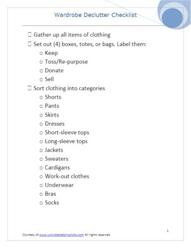 How to Declutter Your Wardrobe 6 Simple Steps For Owning Less Clothes