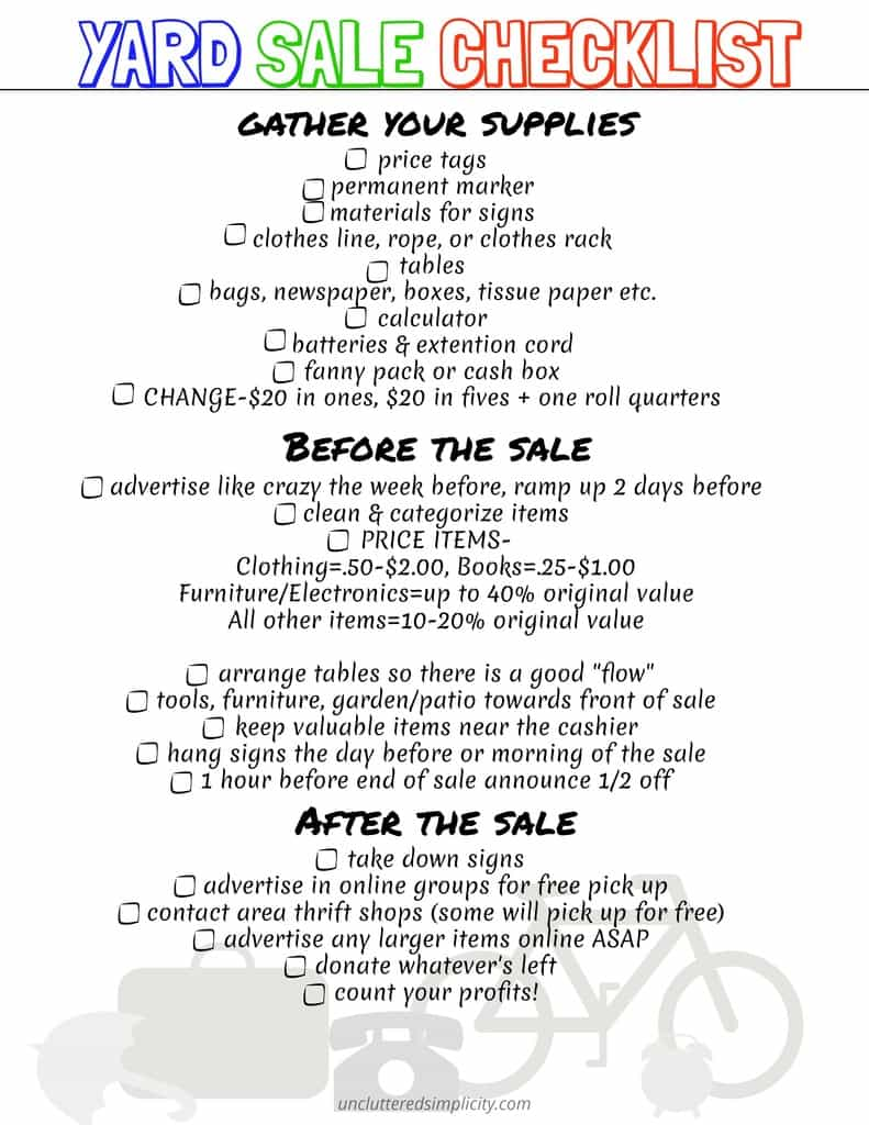 Garage Sale Price Stickers 10 Yard Sale Tips That Ll Earn You Cash With Free Printable