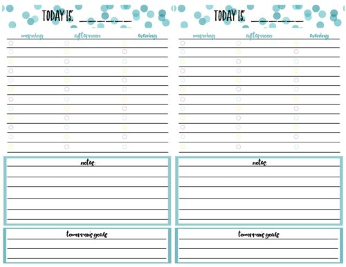 Free Printable Daily Calendar Planner Page - daily calendar