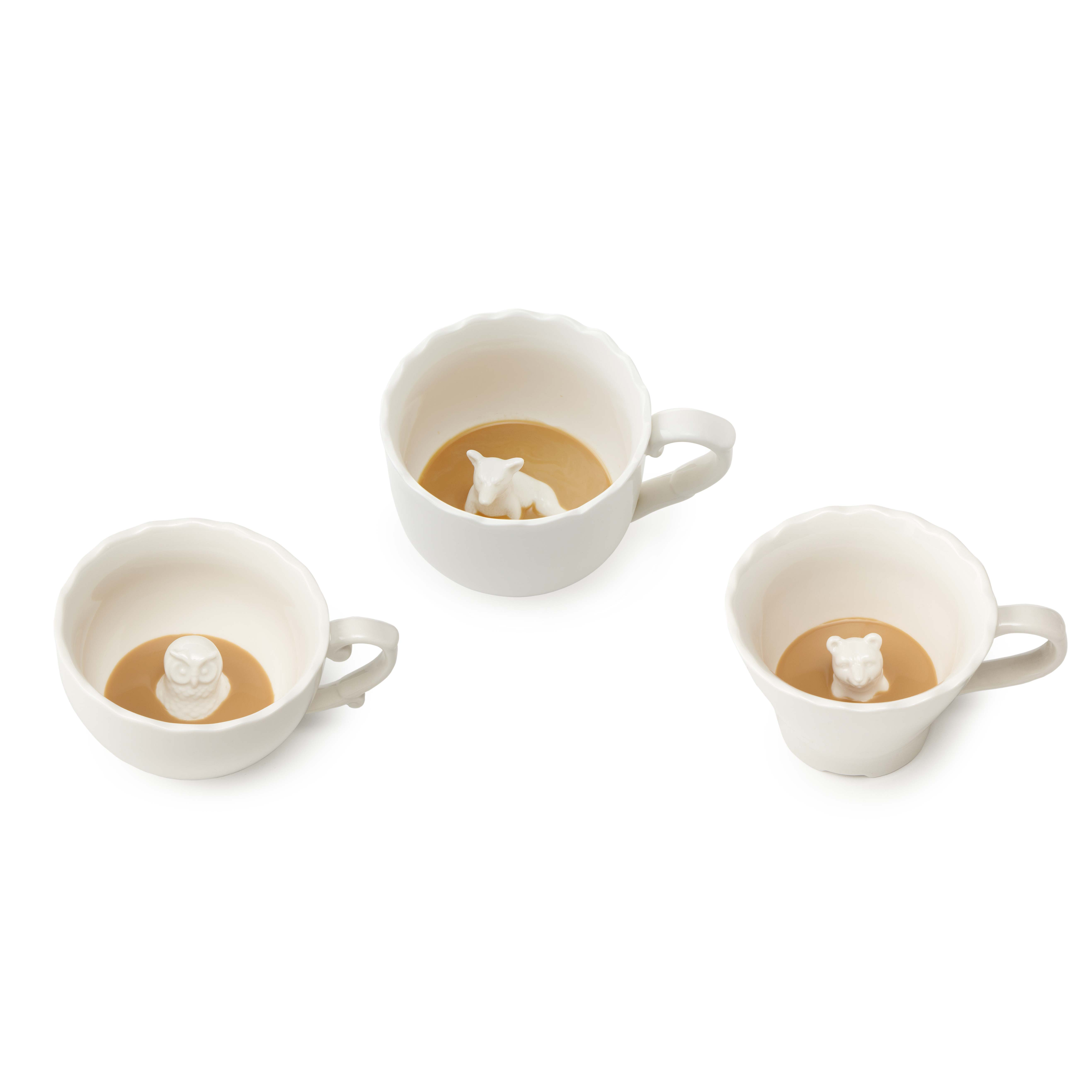 Animal Coffee Cups Hidden Animal Mugs White Ceramic Tea Cup Uncommongoods