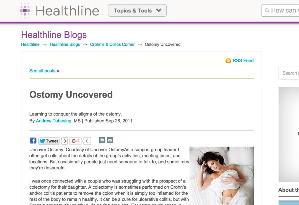 Uncover Ostomy Healthline 09-26-2011