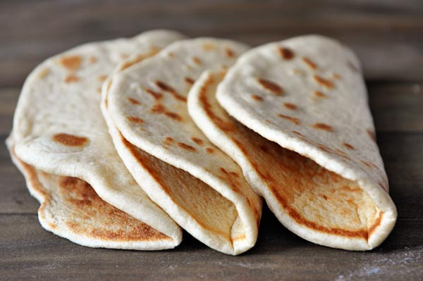 Homemade Flatbread {Greek Pocketless Pitas} Recipe