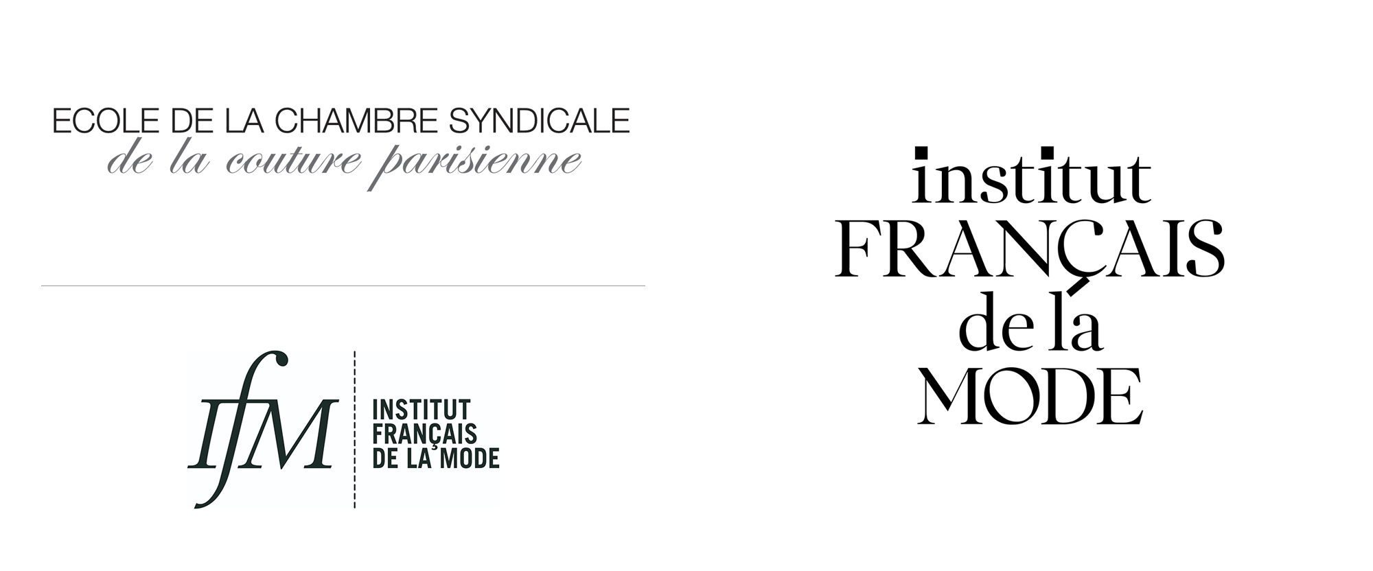 Ecole De La Chambre Syndicale Paris Brand New New Logo And Identity For Institut Français De La Mode