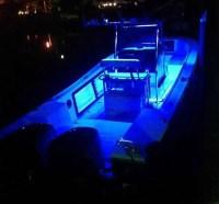 MAKO Boat With Blue Deck Lights - Underwater-Lights USA