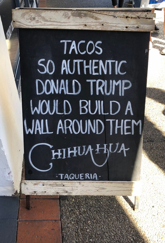 donald trump taco sign