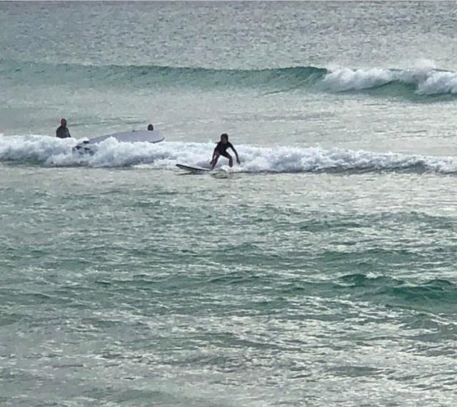maggie surfing