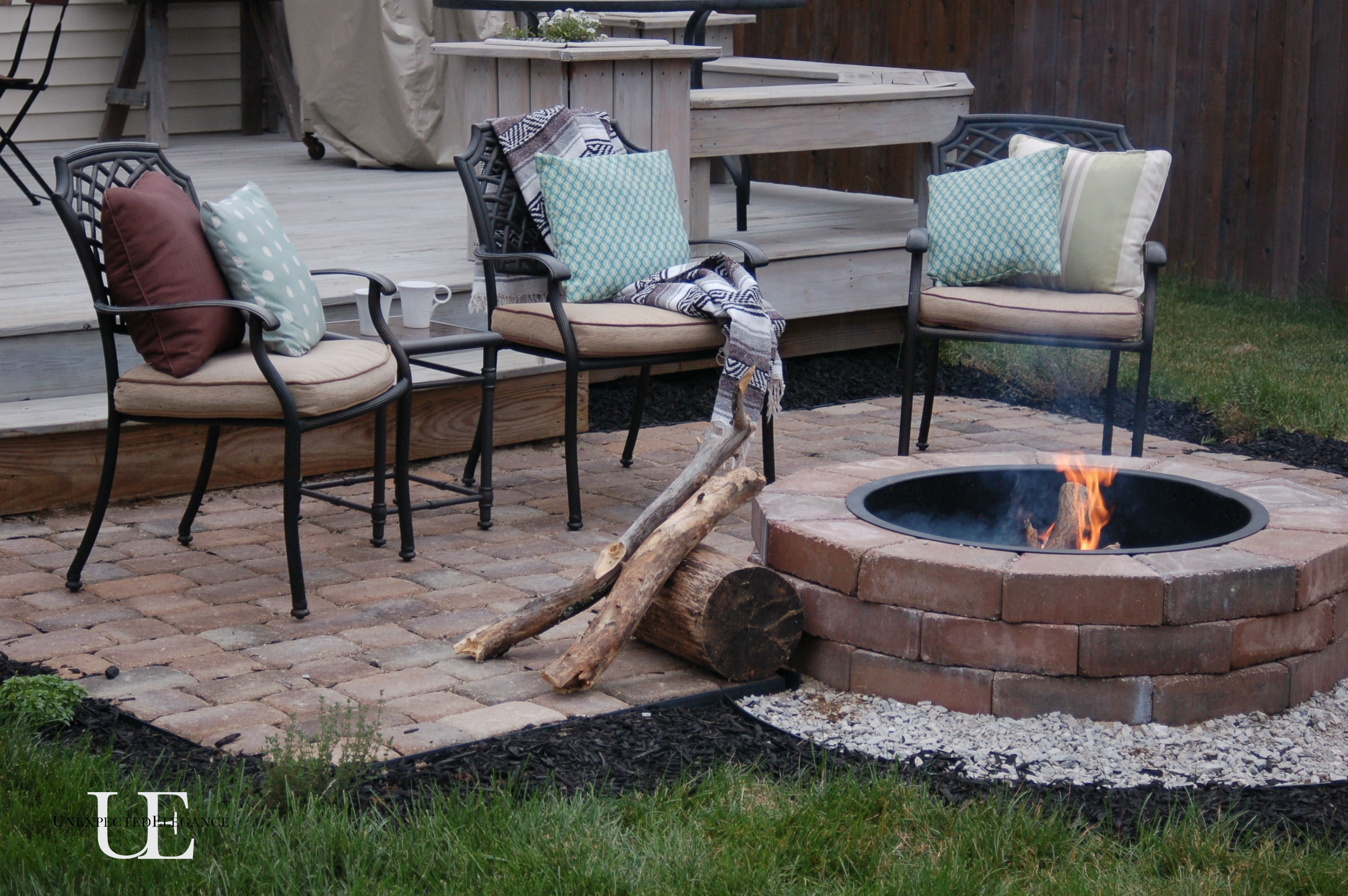 Patio Fire Pit Ideas Diy Paver Patio And Firepit