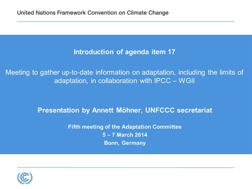 UNFCCC Webcast On Demand
