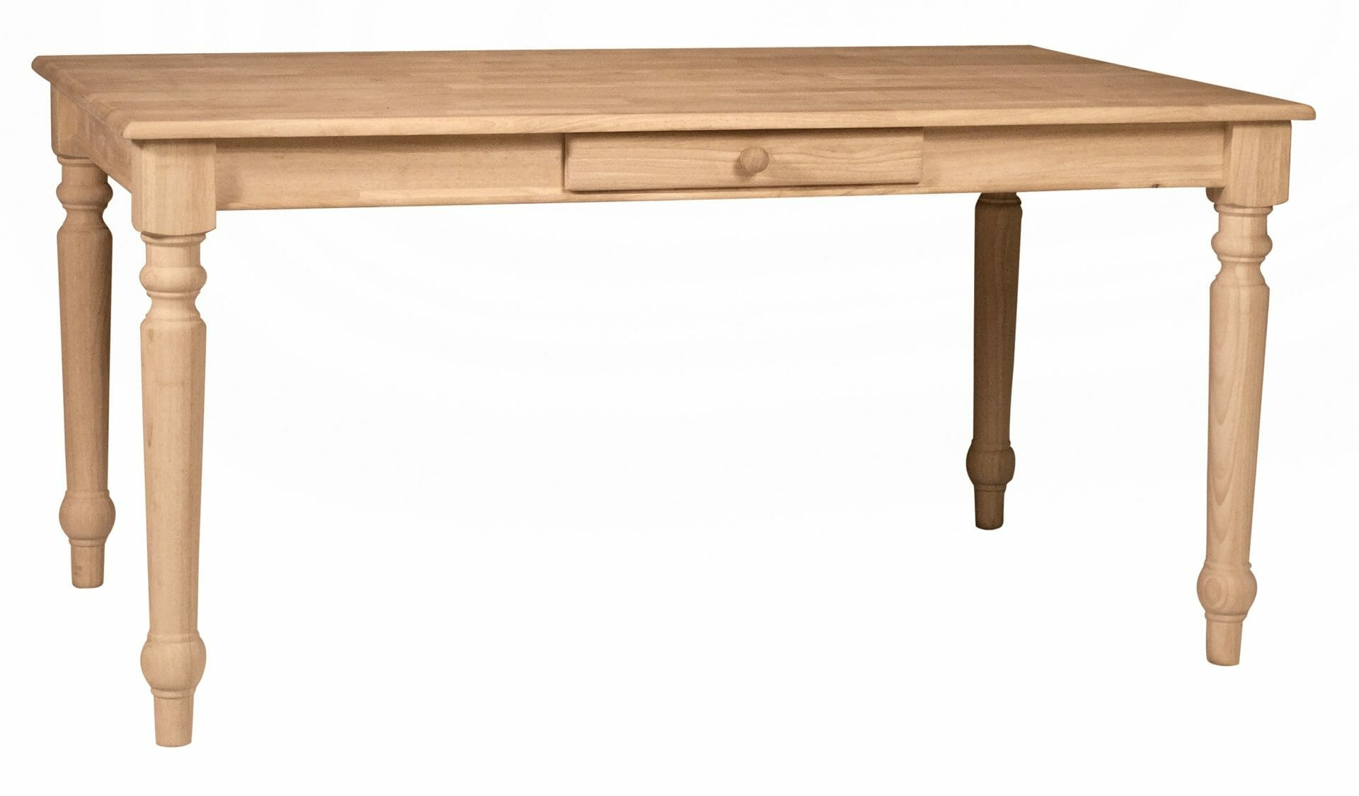 3660t Solid Top Farmhouse Table Unfinished Furniture Of Wilmington