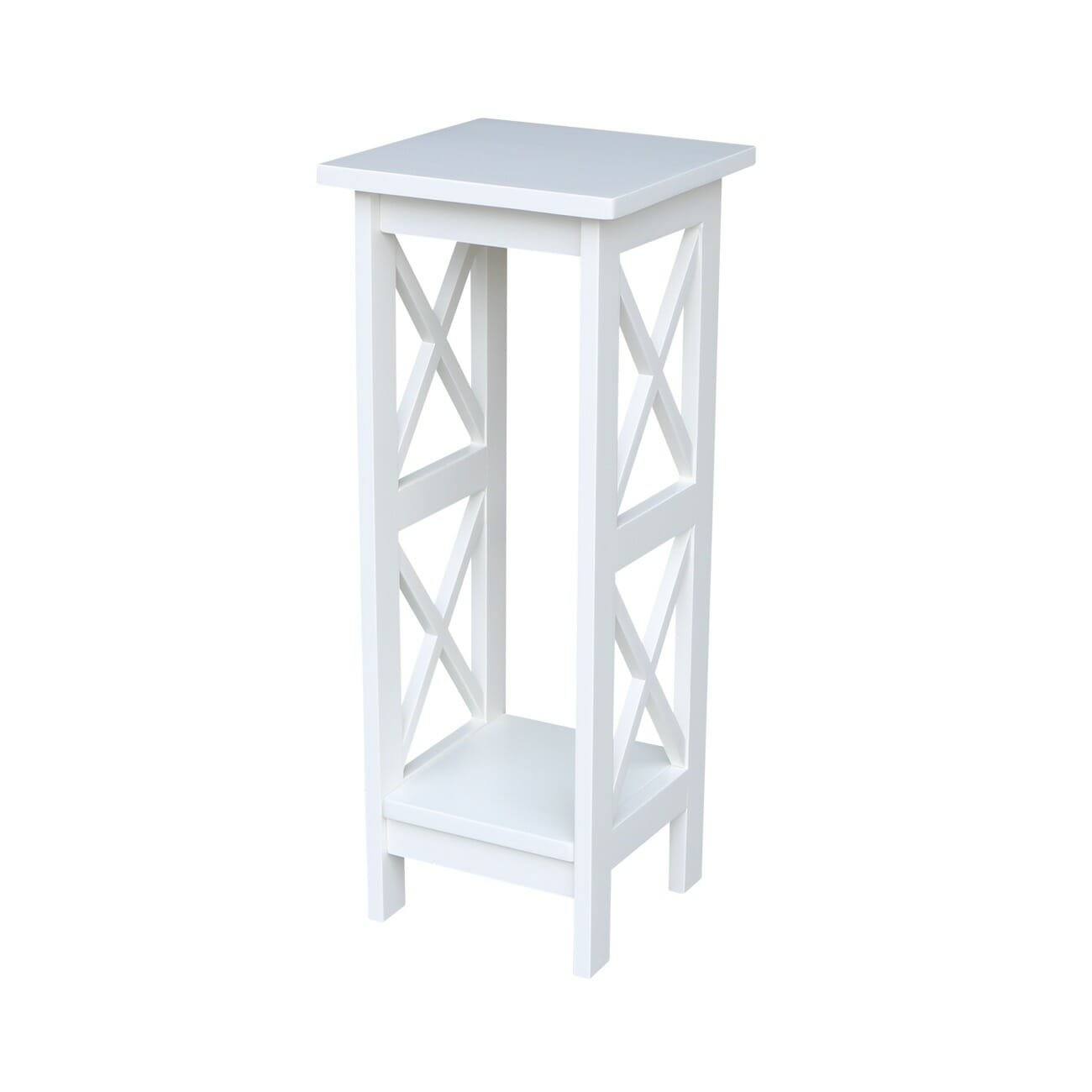 White Plant Stand Indoor 3070x 30 Inch Tall X Sided Plant Stand Unfinished