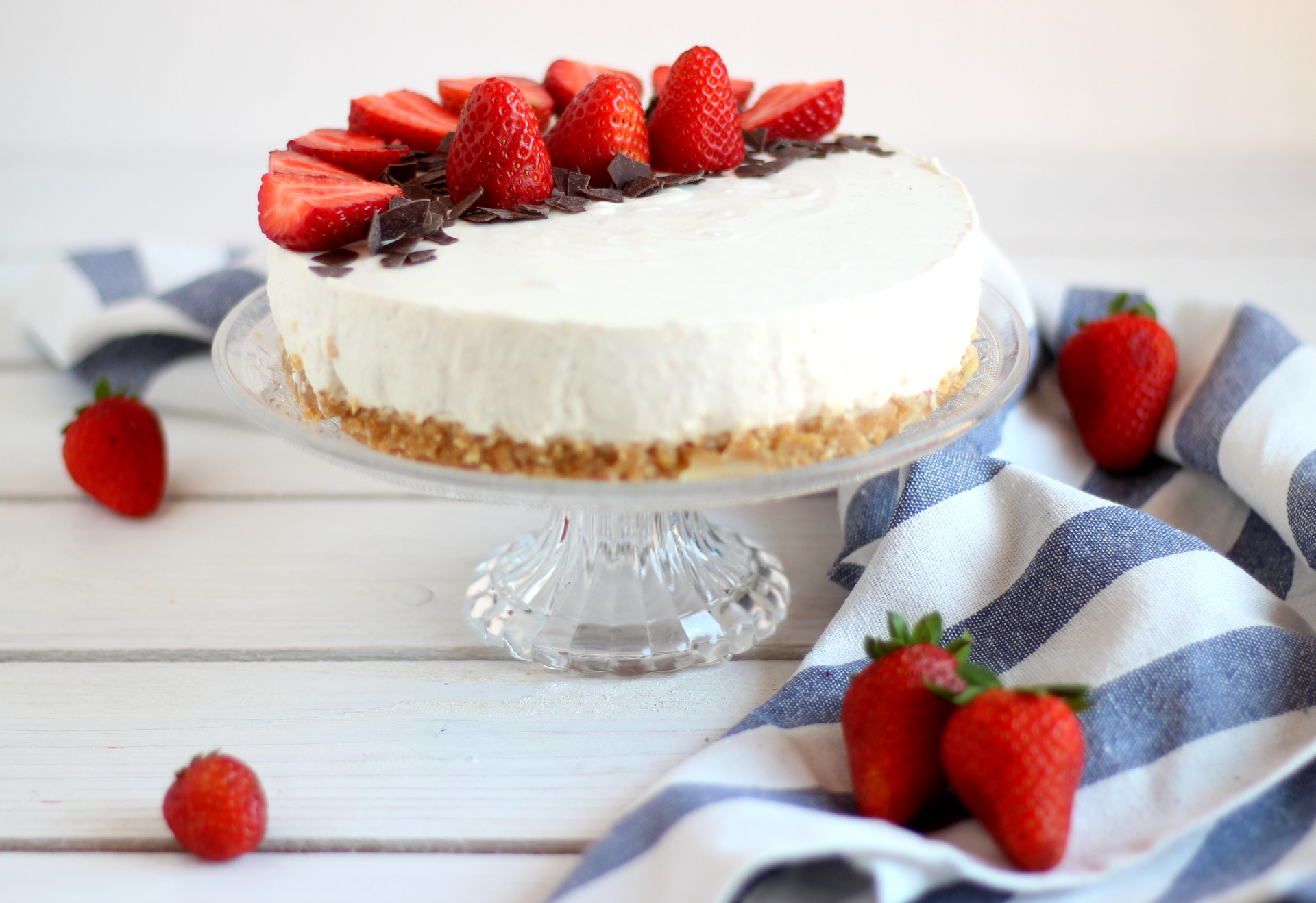 La Cucina Italiana Cheesecake Alle Fragole Cheesecake Allo Yogurt Greco Con Panna E Fragole